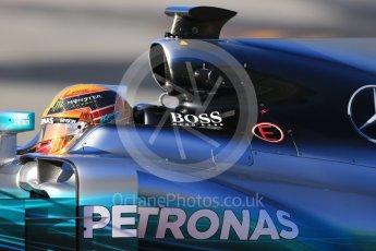World © Octane Photographic Ltd. Formula 1 - Winter Test 2. Lewis Hamilton - Mercedes AMG Petronas F1 W08 EQ Energy+. Circuit de Barcelona-Catalunya. Tuesday 7th March 2017. Digital Ref :1784CB1D0583