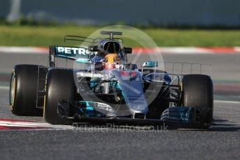 World © Octane Photographic Ltd. Formula 1 - Winter Test 2. Lewis Hamilton - Mercedes AMG Petronas F1 W08 EQ Energy+. Circuit de Barcelona-Catalunya. Tuesday 7th March 2017. Digital Ref :1784CB1D0613