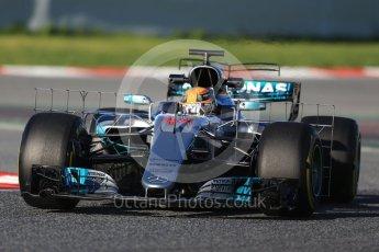 World © Octane Photographic Ltd. Formula 1 - Winter Test 2. Lewis Hamilton - Mercedes AMG Petronas F1 W08 EQ Energy+. Circuit de Barcelona-Catalunya. Tuesday 7th March 2017. Digital Ref :1784CB1D0617