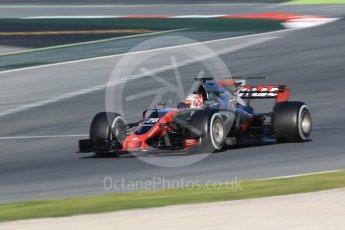 World © Octane Photographic Ltd. Formula 1 - Winter Test 2. Kevin Magnussen - Haas F1 Team VF-17. Circuit de Barcelona-Catalunya. Tuesday 7th March 2017. Digital Ref :1784CB1D0707