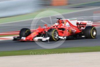 World © Octane Photographic Ltd. Formula 1 - Winter Test 2. Sebastian Vettel - Scuderia Ferrari SF70H. Circuit de Barcelona-Catalunya. Tuesday 7th March 2017. Digital Ref :1784CB1D0811