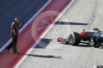 World © Octane Photographic Ltd. Formula 1 - Winter Test 2. Kevin Magnussen - Haas F1 Team VF-17. Circuit de Barcelona-Catalunya. Tuesday 7th March 2017. Digital Ref :1784CB1D0834