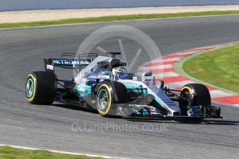 World © Octane Photographic Ltd. Formula 1 - Winter Test 2. Valtteri Bottas - Mercedes AMG Petronas F1 W08 EQ Energy+. Circuit de Barcelona-Catalunya. Tuesday 7th March 2017. Digital Ref: 1784CB1D1078