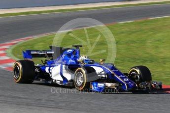 World © Octane Photographic Ltd. Formula 1 - Winter Test 2. Marcus Ericsson – Sauber F1 Team C36. Circuit de Barcelona-Catalunya. Tuesday 7th March 2017. Digital Ref: 1784CB1D1099