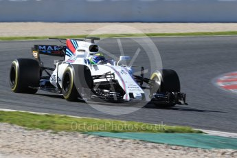 World © Octane Photographic Ltd. Formula 1 - Winter Test 2. Felipe Massa - Williams Martini Racing FW40. Circuit de Barcelona-Catalunya. Tuesday 7th March 2017. Digital Ref: 1784CB1D1270