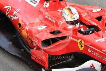 World © Octane Photographic Ltd. Formula 1 - Winter Test 2. Sebastian Vettel - Scuderia Ferrari SF70H. Circuit de Barcelona-Catalunya. Tuesday 7th March 2017. Digital Ref :1784CB1D1354