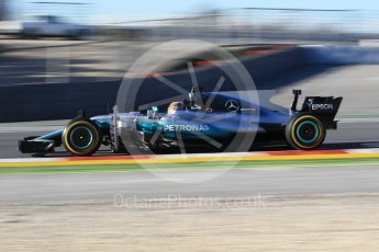 World © Octane Photographic Ltd. Formula 1 - Winter Test 2. Lewis Hamilton - Mercedes AMG Petronas F1 W08 EQ Energy+. Circuit de Barcelona-Catalunya. Tuesday 7th March 2017. Digital Ref :1784CB1D4823