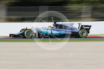 World © Octane Photographic Ltd. Formula 1 - Winter Test 2. Lewis Hamilton - Mercedes AMG Petronas F1 W08 EQ Energy+. Circuit de Barcelona-Catalunya. Tuesday 7th March 2017. Digital Ref :1784CB1D4834