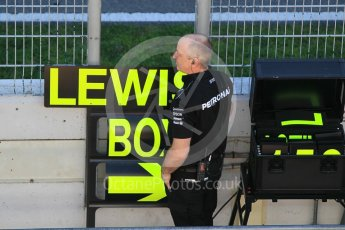 World © Octane Photographic Ltd. Formula 1 - Winter Test 2. Lewis Hamilton - Mercedes AMG Petronas F1 W08 EQ Energy+. Circuit de Barcelona-Catalunya. Tuesday 7th March 2017. Digital Ref :1784CB1D4956