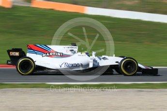 World © Octane Photographic Ltd. Formula 1 - Winter Test 2. Felipe Massa - Williams Martini Racing FW40. Circuit de Barcelona-Catalunya. Tuesday 7th March 2017. Digital Ref: 1784CB1D5227