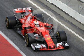 World © Octane Photographic Ltd. Formula 1 - Winter Test 2. Sebastian Vettel - Scuderia Ferrari SF70H. Circuit de Barcelona-Catalunya. Tuesday 7th March 2017. Digital Ref :1784CB1D5410
