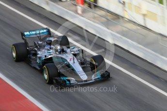 World © Octane Photographic Ltd. Formula 1 - Winter Test 2. Valtteri Bottas - Mercedes AMG Petronas F1 W08 EQ Energy+. Circuit de Barcelona-Catalunya. Tuesday 7th March 2017. Digital Ref :1784CB1D5506