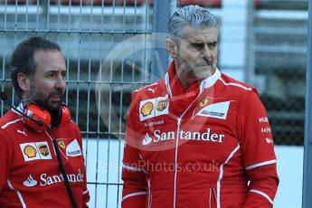 World © Octane Photographic Ltd. Formula 1 - Winter Test 2. Maurizio Arrivabene - Scuderia Ferrari Team Principal. Circuit de Barcelona-Catalunya. Tuesday 7th March 2017. Digital Ref :1784LB1D2503