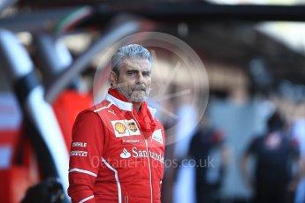 World © Octane Photographic Ltd. Formula 1 - Winter Test 2. Maurizio Arrivabene - Scuderia Ferrari Team Principal. Circuit de Barcelona-Catalunya. Tuesday 7th March 2017. Digital Ref :1784LB1D2556