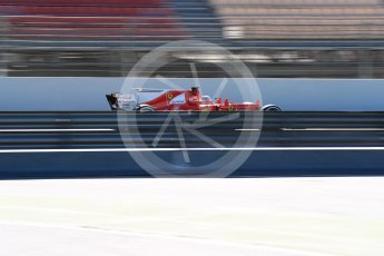 World © Octane Photographic Ltd. Formula 1 - Winter Test 2. Sebastian Vettel - Scuderia Ferrari SF70H. Circuit de Barcelona-Catalunya. Tuesday 7th March 2017. Digital Ref :1784LB1D2865