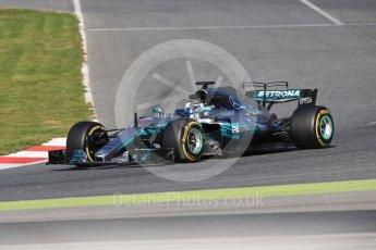 World © Octane Photographic Ltd. Formula 1 - Winter Test 2. Valtteri Bottas - Mercedes AMG Petronas F1 W08 EQ Energy+. Circuit de Barcelona-Catalunya. Tuesday 7th March 2017. Digital Ref: 1784LB1D3583