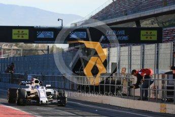World © Octane Photographic Ltd. Formula 1 - Winter Test 2. Felipe Massa - Williams Martini Racing FW40. Circuit de Barcelona-Catalunya. Tuesday 7th March 2017. Digital Ref :1784LB5D9215
