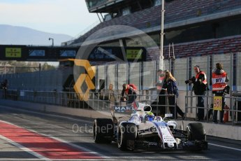 World © Octane Photographic Ltd. Formula 1 - Winter Test 2. Felipe Massa - Williams Martini Racing FW40. Circuit de Barcelona-Catalunya. Tuesday 7th March 2017. Digital Ref :1784LB5D9222