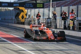 World © Octane Photographic Ltd. Formula 1 - Winter Test 2. Stoffel Vandoorne - McLaren Honda MCL32. Circuit de Barcelona-Catalunya. Tuesday 7th March 2017. Digital Ref :1784LB5D9256