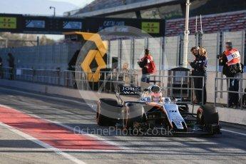 World © Octane Photographic Ltd. Formula 1 - Winter Test 2. Esteban Ocon - Sahara Force India VJM10. Circuit de Barcelona-Catalunya. Tuesday 7th March 2017. Digital Ref :1784LB5D9265