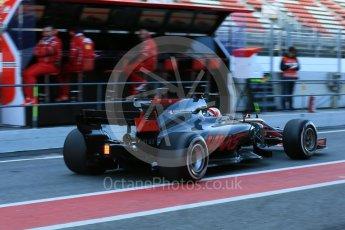 World © Octane Photographic Ltd. Formula 1 - Winter Test 2. Kevin Magnussen - Haas F1 Team VF-17. Circuit de Barcelona-Catalunya. Tuesday 7th March 2017. Digital Ref :1784LB5D9329