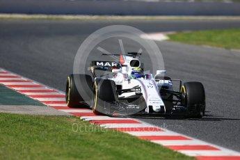 World © Octane Photographic Ltd. Formula 1 - Winter Test 2. Felipe Massa - Williams Martini Racing FW40. Circuit de Barcelona-Catalunya. Tuesday 7th March 2017. Digital Ref :1784LB5D9390