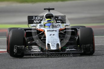 World © Octane Photographic Ltd. Formula 1 - Winter Test 2. Sergio Perez - Sahara Force India VJM10. Circuit de Barcelona-Catalunya. Wednesday 8th March 2017. Digital Ref: 1785CB1D6084