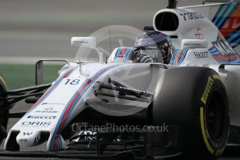 World © Octane Photographic Ltd. Formula 1 - Winter Test 2. Lance Stroll - Williams Martini Racing FW40. Circuit de Barcelona-Catalunya. Wednesday 8th March 2017. Digital Ref: 1785CB1D6126