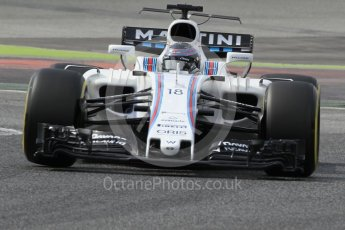 World © Octane Photographic Ltd. Formula 1 - Winter Test 2. Lance Stroll - Williams Martini Racing FW40. Circuit de Barcelona-Catalunya. Wednesday 8th March 2017. Digital Ref: 1785CB1D6159