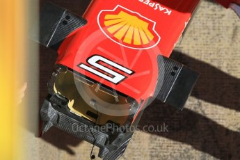 World © Octane Photographic Ltd. Formula 1 - Winter Test 1. Sebastian Vettel - Scuderia Ferrari SF70H nose internal detail. Circuit de Barcelona-Catalunya. Wednesday 1st March 2017. Digital Ref : 1782CB1D4327