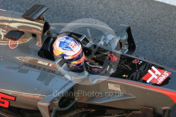 World © Octane Photographic Ltd. Formula 1 - Winter Test 1. Romain Grosjean - Haas F1 Team VF-17. Circuit de Barcelona-Catalunya. Wednesday 1st March 2017. Digital Ref : 1782CB1D4358