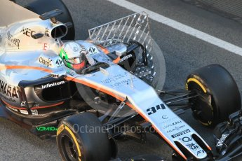 World © Octane Photographic Ltd. Formula 1 - Winter Test 1. Alfonso Celis - Sahara Force India VJM10. Circuit de Barcelona-Catalunya. Wednesday 1st March 2017. Digital Ref :1782CB1D4452