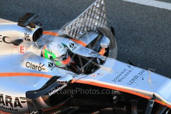 World © Octane Photographic Ltd. Formula 1 - Winter Test 1. Alfonso Celis - Sahara Force India VJM10. Circuit de Barcelona-Catalunya. Wednesday 1st March 2017. Digital Ref :1782CB1D4457