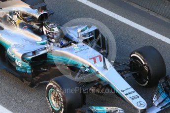 World © Octane Photographic Ltd. Formula 1 - Winter Test 1. Valtteri Bottas - Mercedes AMG Petronas F1 W08 EQ Energy+. Circuit de Barcelona-Catalunya. Wednesday 1st March 2017. Digital Ref :1782CB1D4467
