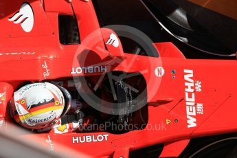 World © Octane Photographic Ltd. Formula 1 - Winter Test 1. Sebastian Vettel - Scuderia Ferrari SF70H. Circuit de Barcelona-Catalunya. Wednesday 1st March 2017. Digital Ref :1782CB1D4499