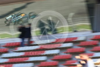World © Octane Photographic Ltd. Formula 1 - Winter Test 1. Lewis Hamilton - Mercedes AMG Petronas F1 W08 EQ Energy+. Circuit de Barcelona-Catalunya. Wednesday 1st March 2017. Digital Ref : 1782CB1D4612