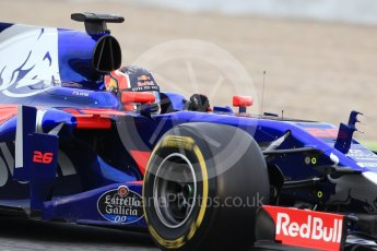 World © Octane Photographic Ltd. Formula 1 - Winter Test 1. Daniil Kvyat - Scuderia Toro Rosso STR12. Circuit de Barcelona-Catalunya. Wednesday 1st March 2017. Digital Ref :1782CB1D7879