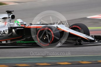 World © Octane Photographic Ltd. Formula 1 - Winter Test 1. Alfonso Celis - Sahara Force India VJM10. Circuit de Barcelona-Catalunya. Wednesday 1st March 2017. Digital Ref :1782CB1D8098