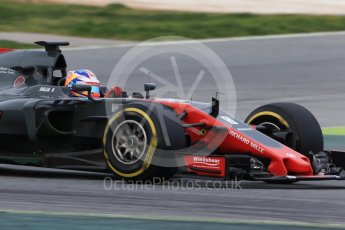 World © Octane Photographic Ltd. Formula 1 - Winter Test 1. Romain Grosjean - Haas F1 Team VF-17. Circuit de Barcelona-Catalunya. Wednesday 1st March 2017. Digital Ref :1782CB1D8106