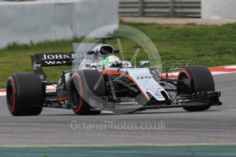 World © Octane Photographic Ltd. Formula 1 - Winter Test 1. Alfonso Celis - Sahara Force India VJM10. Circuit de Barcelona-Catalunya. Wednesday 1st March 2017. Digital Ref :1782CB1D8205