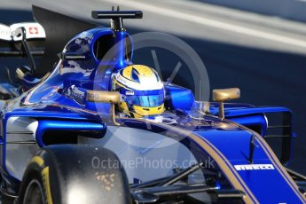 World © Octane Photographic Ltd. Formula 1 - Winter Test 1. Marcus Ericsson – Sauber F1 Team C36. Circuit de Barcelona-Catalunya. Wednesday 1st March 2017. Digital Ref :1782CB1D8288