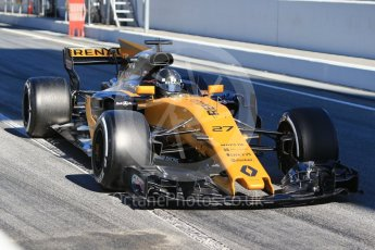 World © Octane Photographic Ltd. Formula 1 - Winter Test 1. Nico Hulkenberg - Renault Sport F1 Team R.S.17. Circuit de Barcelona-Catalunya. Wednesday 1st March 2017. Digital Ref :1782CB1D8371
