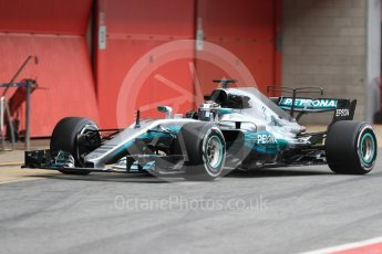 World © Octane Photographic Ltd. Formula 1 - Winter Test 1. Valtteri Bottas - Mercedes AMG Petronas F1 W08 EQ Energy+. Circuit de Barcelona-Catalunya. Wednesday 1st March 2017. Digital Ref : 1782LB1D0134