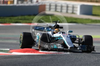 World © Octane Photographic Ltd. Formula 1 - Winter Test 1. Lewis Hamilton - Mercedes AMG Petronas F1 W08 EQ Energy+. Circuit de Barcelona-Catalunya. Wednesday 1st March 2017. Digital Ref :1782LB1D0217