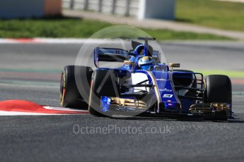 World © Octane Photographic Ltd. Formula 1 - Winter Test 1. Marcus Ericsson – Sauber F1 Team C36. Circuit de Barcelona-Catalunya. Wednesday 1st March 2017. Digital Ref :1782LB1D0237