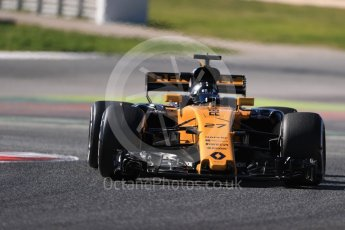 World © Octane Photographic Ltd. Formula 1 - Winter Test 1. Nico Hulkenberg - Renault Sport F1 Team R.S.17. Circuit de Barcelona-Catalunya. Wednesday 1st March 2017. Digital Ref :1782LB1D0313