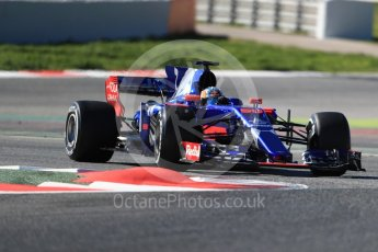 World © Octane Photographic Ltd. Formula 1 - Winter Test 1. Carlos Sainz - Scuderia Toro Rosso STR12. Circuit de Barcelona-Catalunya. Wednesday 1st March 2017. Digital Ref :1782LB1D0389