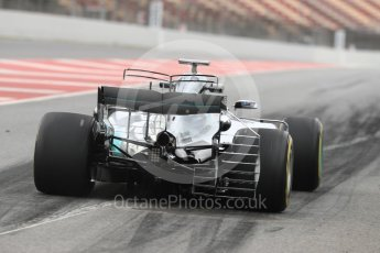 World © Octane Photographic Ltd. Formula 1 - Winter Test 1. Valtteri Bottas - Mercedes AMG Petronas F1 W08 EQ Energy+. Circuit de Barcelona-Catalunya. Wednesday 1st March 2017. Digital Ref : 1782LB1D9588