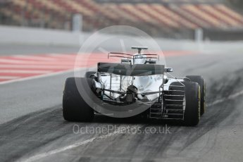 World © Octane Photographic Ltd. Formula 1 - Winter Test 1. Valtteri Bottas - Mercedes AMG Petronas F1 W08 EQ Energy+. Circuit de Barcelona-Catalunya. Wednesday 1st March 2017. Digital Ref : 1782LB1D9619