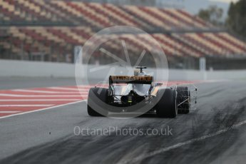 World © Octane Photographic Ltd. Formula 1 - Winter Test 1. Jolyon Palmer - Renault Sport F1 Team R.S.17. Circuit de Barcelona-Catalunya. Wednesday 1st March 2017. Digital Ref : 1782LB1D9698